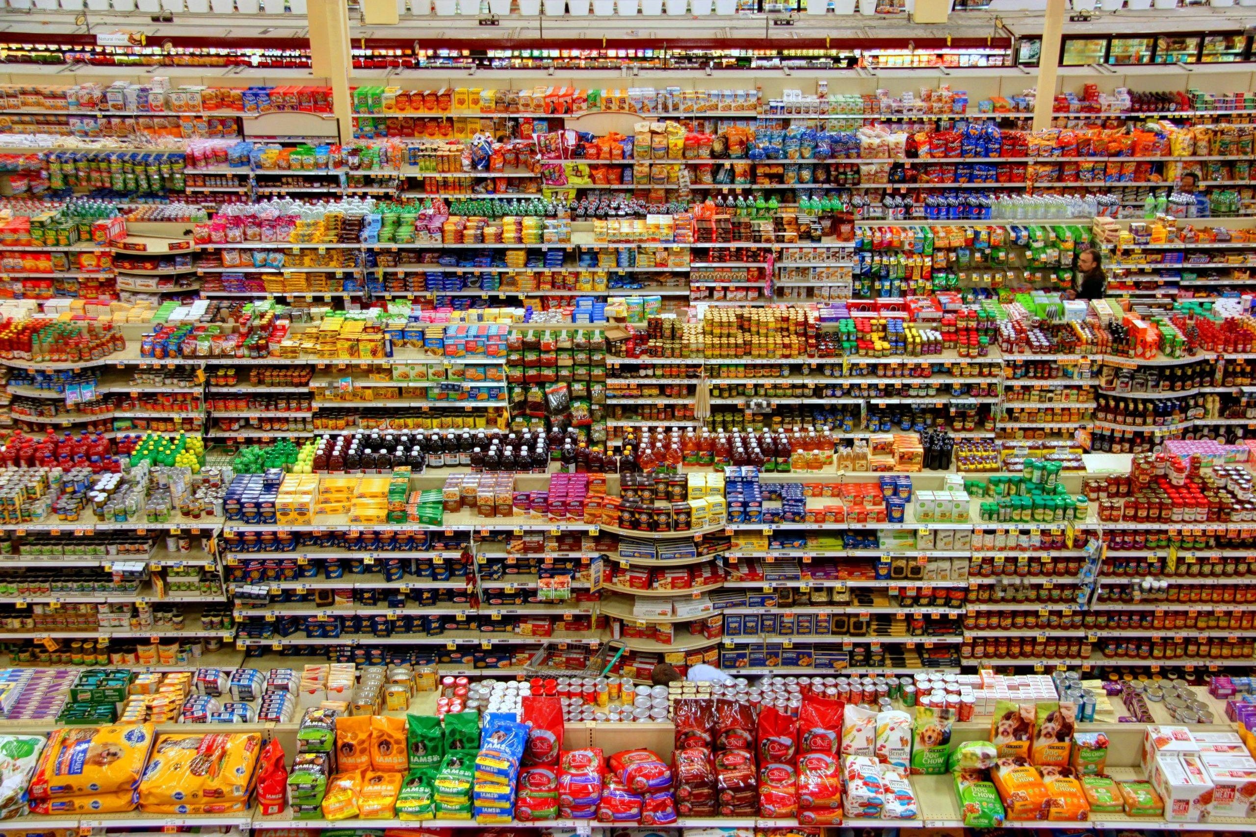 crowded supermarket